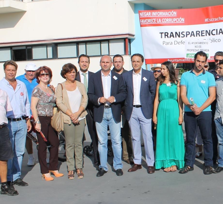 Concentración para exigir transparecia y derecho a la información
